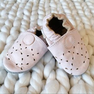 Tickle Toes 100% Leather Moccasins Pink 0-6 Months